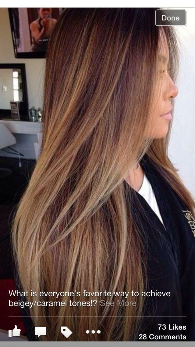 Caramel Balayage Hair Beauty Haar Ideen Haare Balayage