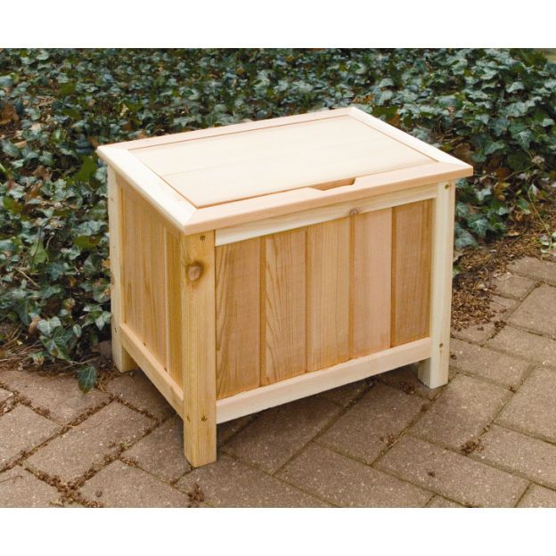 Table Seat Storage With Images Wooden Garden Storage