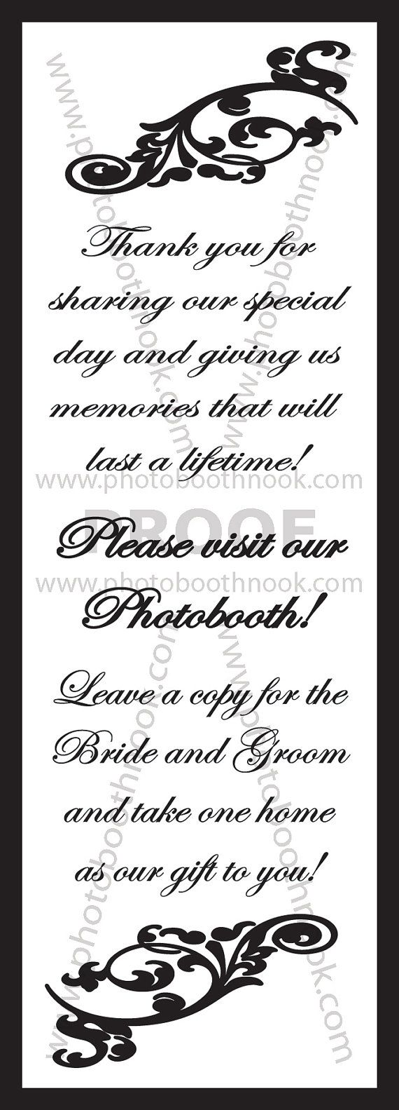 Classic Wedding Inserts for Photo Booth Frames - 250 pack   Wedding ...