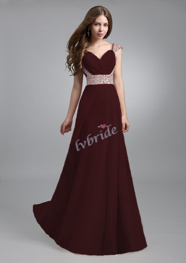 New Long Chiffon Evening Formal Party Ball Gown Prom Bridesmaid ...