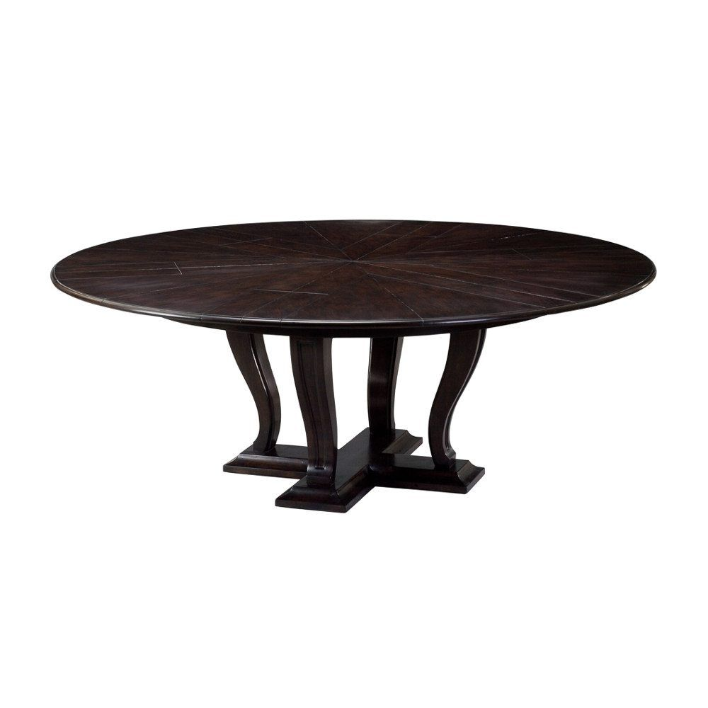 Transitional Jupe Dining Table Made From Solid Oak With Ebony