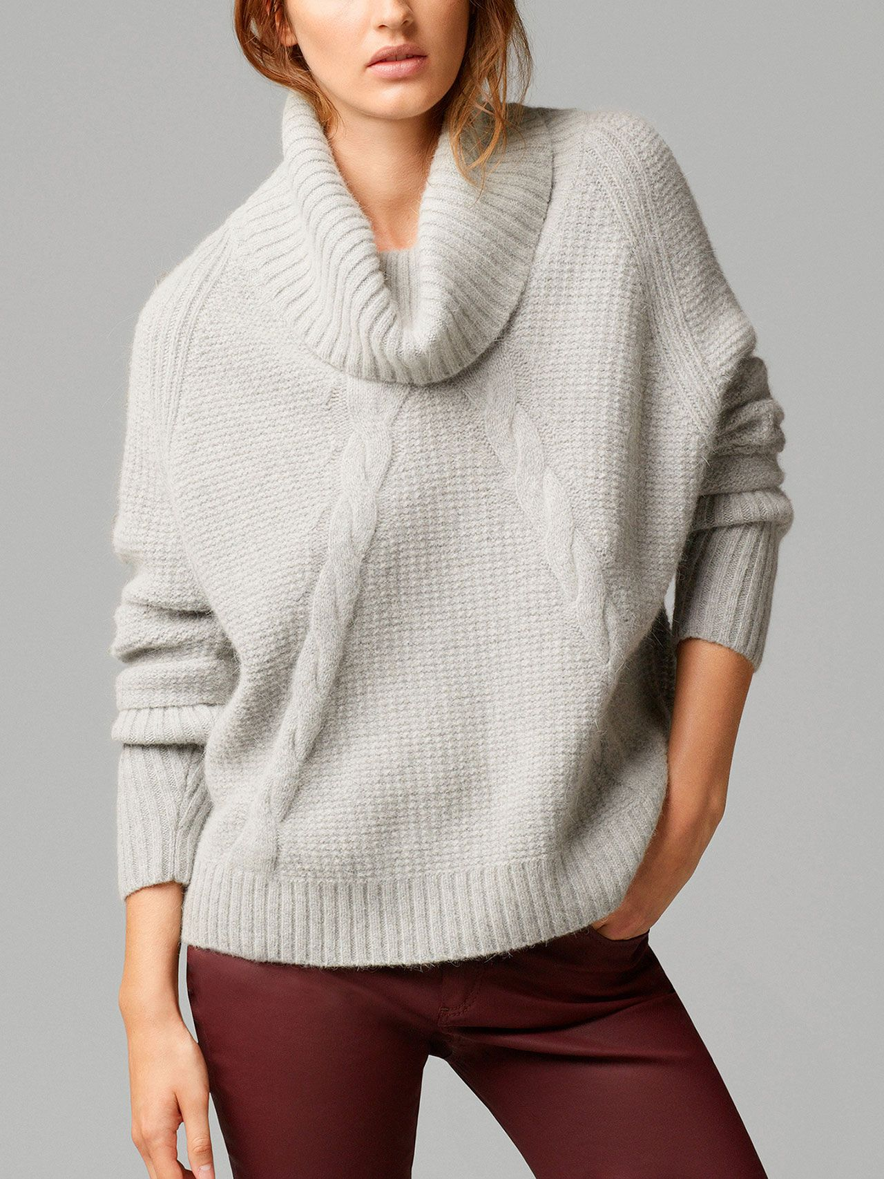 OVERSIZE CABLE-KNIT SWEATER by Massimo Dutti… | BONknitted ...