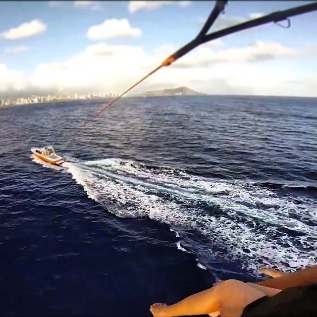 Great Views Of Diamond Head And Waikiki Beach With Paradise Watersports Parasailing Parasail Hawaii