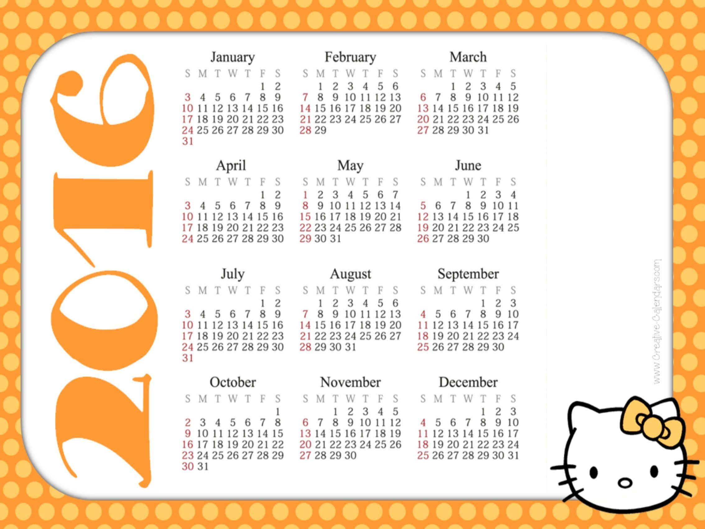 Ham Radio Contest Calendar 2022.Hello Kitty October Printable Calendar2021 In 2021 Printable Calendar 2016 Calendar Printables Calendar Template