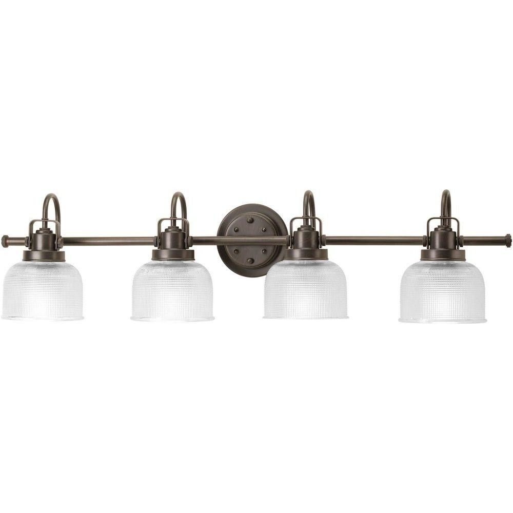 progress lighting archie collection 4 light antique nickel bath from ...