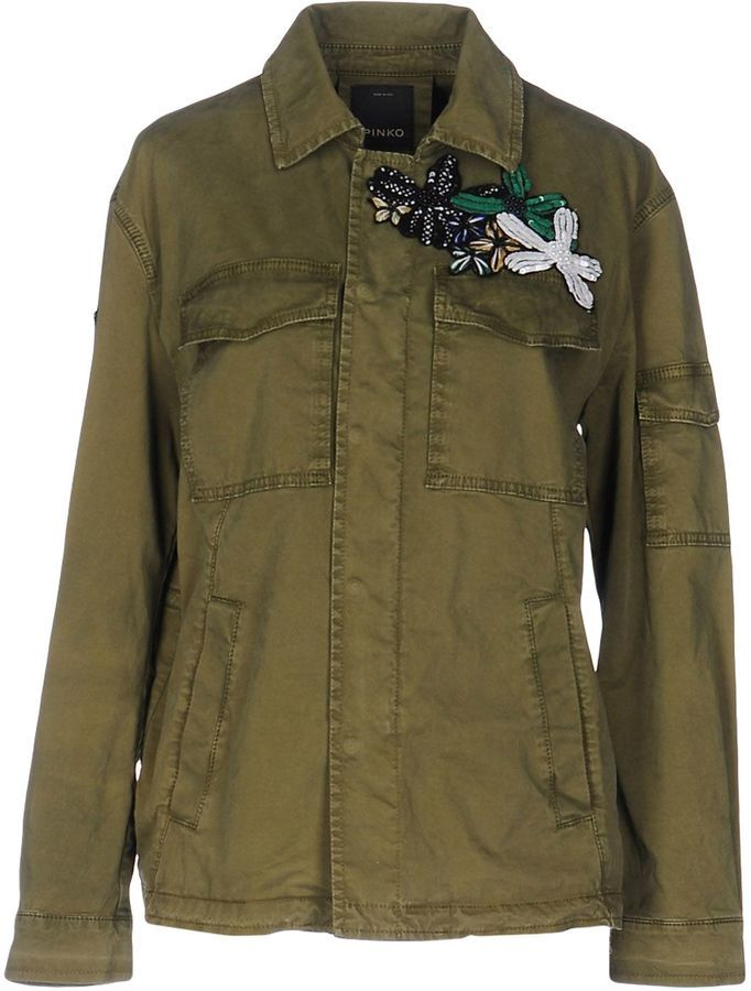 37a9b3be19 Pinko Jackets | Products | Cotton jacket, Green parka jacket, Madewell