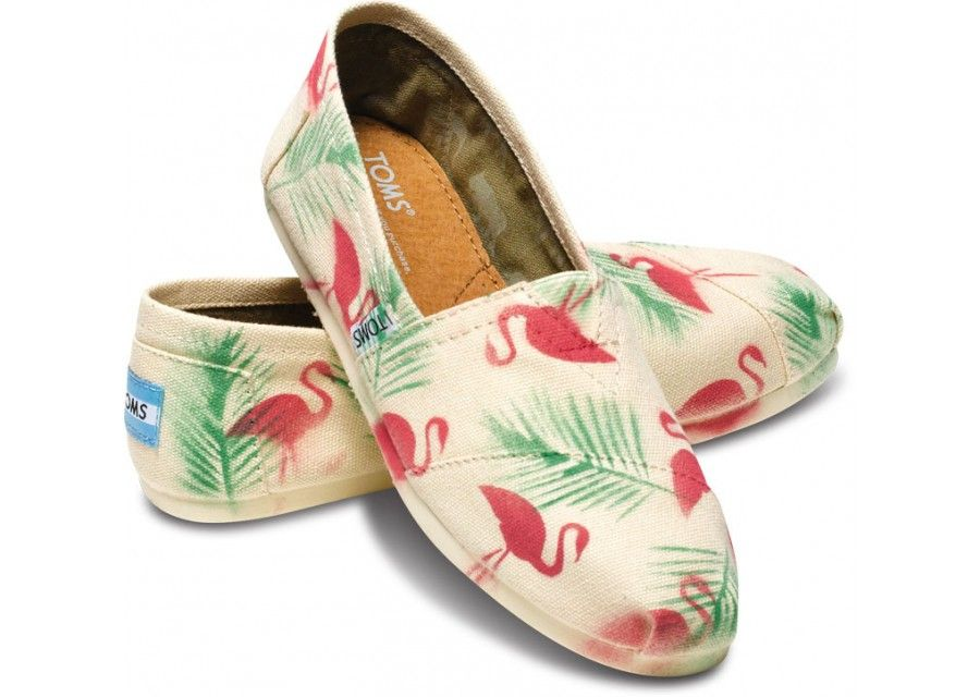 Red Flamingo Green Coconut Tree Breathable Fashion Sneakers Running Shoes Slip-On Loafers Classic Shoes