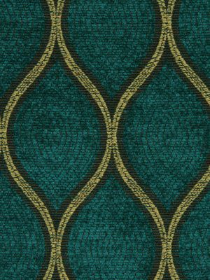 Teal Chenille Upholstery Fabric   Teal Gold Ogee Woven Fabric For Furniture    Custom Teal Gold Geometric Pillows   24 Inch Pillow Euro Shams