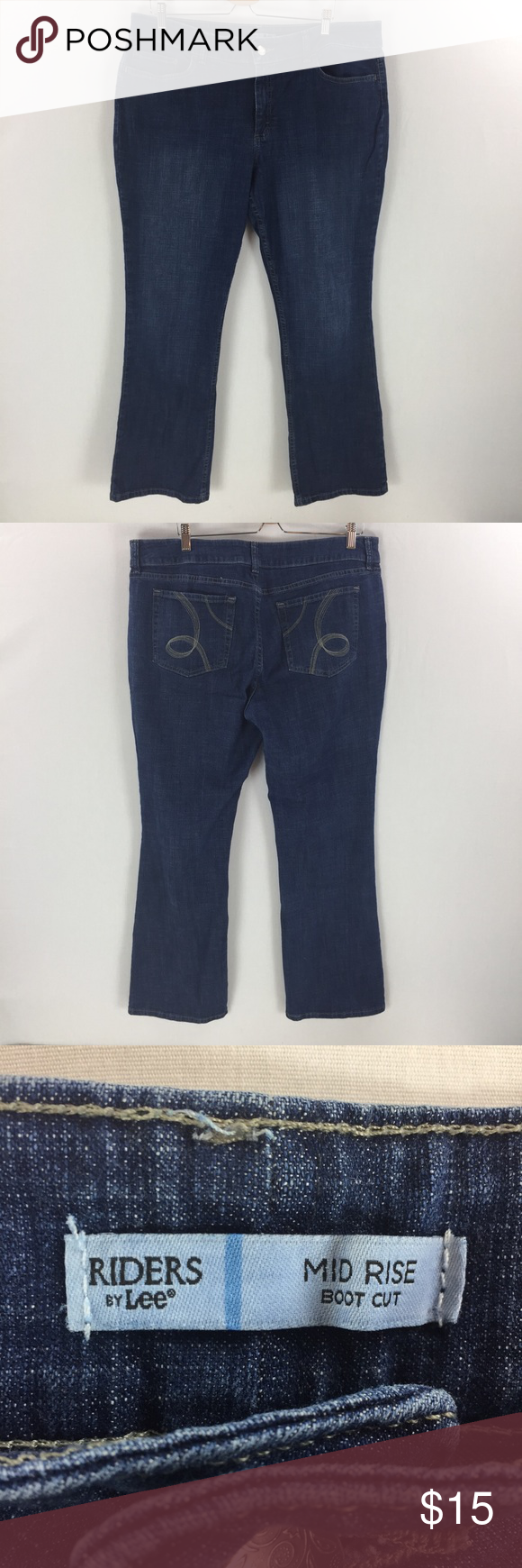 84a511d0f2f Riders mid rise bootcut jeans 18 dark wash Gently worn no noted flaws.  Riders by Lee Jeans Boot Cut