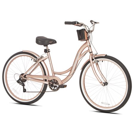 Kent 26 Bayside Women S Cruiser Bike Rose Gold Walmart Com Beach Cruiser Bikes Women Womens Bike Beach Cruiser Bike