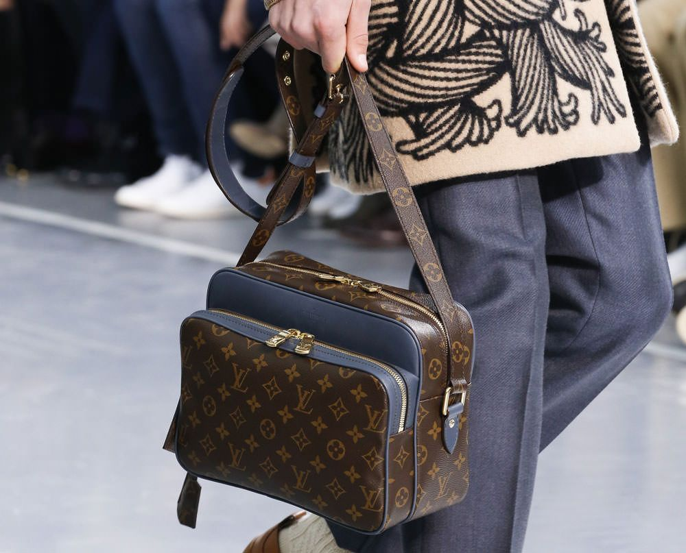 Monogram Makes A Major Comeback At Louis Vuitton S Fall 2015 Menswear Show Page 13 Purseblog Louis Vuitton Men Louis Vuitton Louis Vuitton Shoes