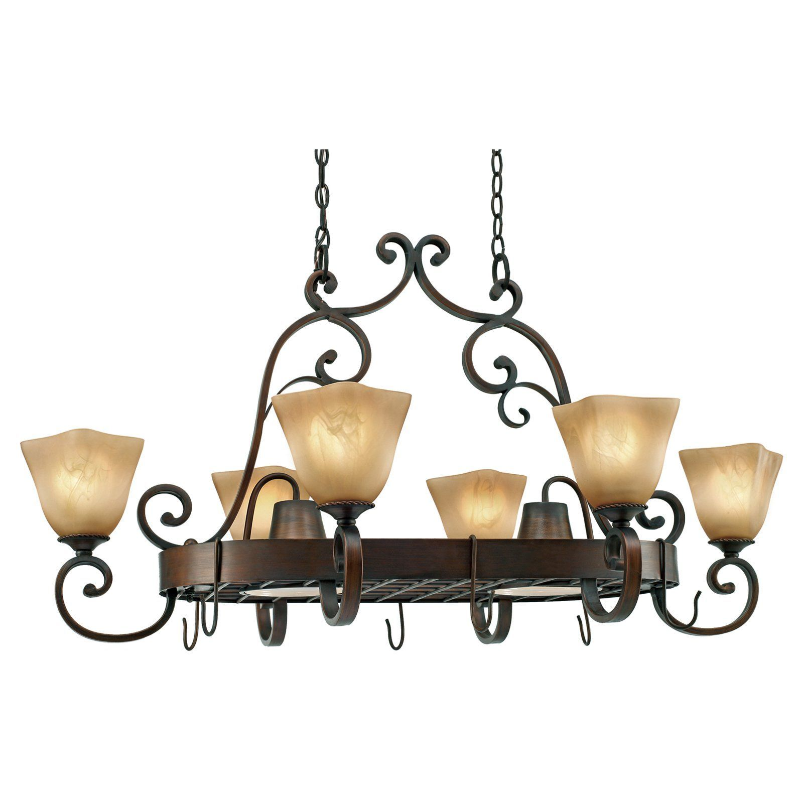 Have To Have It Golden Lighting Meridian Light Pot Rack - Kitchen pot rack light fixtures