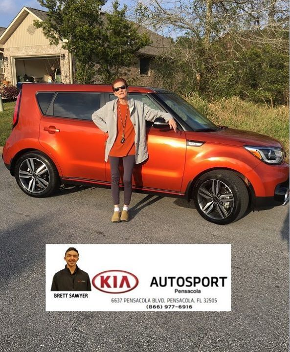 KIA AutoSport Of Pensacola And Brett Sawyer Would Like To CONGRATULATE  Karyn Imrich On The Purchase