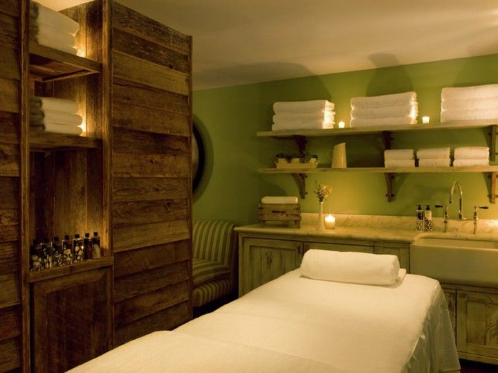 Interior freshnes with green interior design ideas for for Spa treatment room interior design