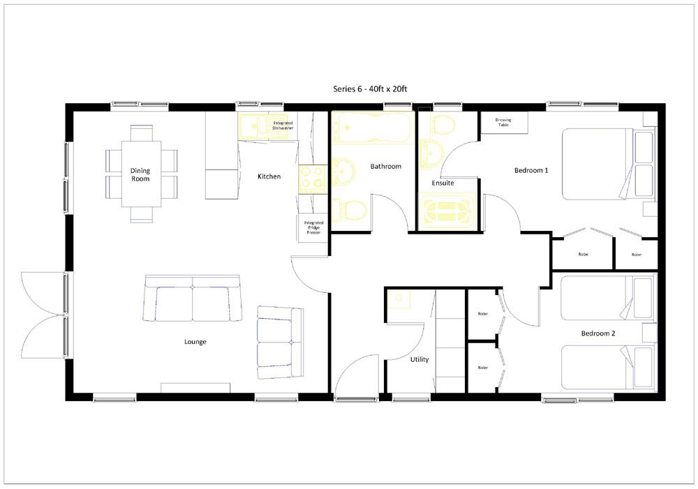 20 X 40 800 Square Feet Floor Plan