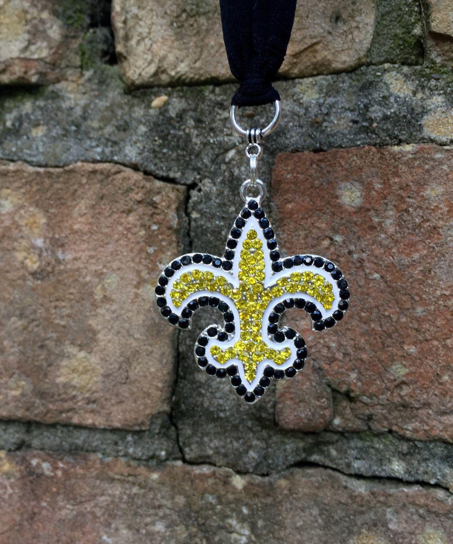 New Orleans Saints Rearview Mirror Charm Saints Football Saints