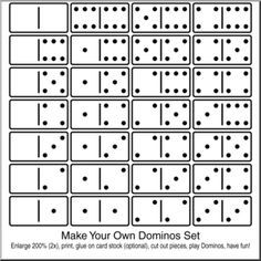free downloadable dominoes worksheets - Google Search | Diy ...