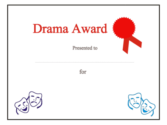 Drama award certificate everyone seller pin pinterest drama award certificate free certificate templates in other certificates category yadclub Images