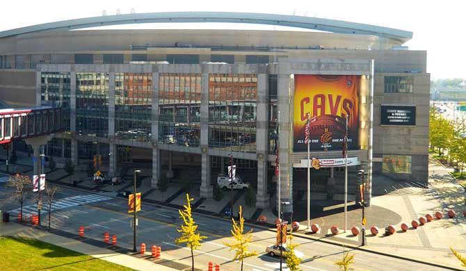 Quicken Loans Arena Quicken Loans Arena Commonly Known As The Q Is A Multi Purpose Arena In Downtown Cleve Quicken Loans Arena Cleveland Downtown Cleveland