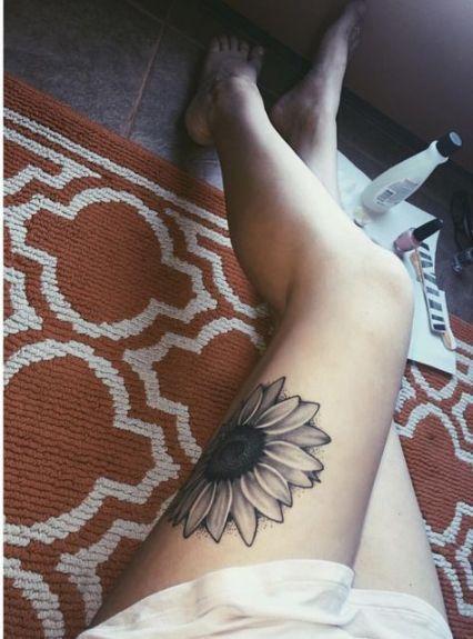 Trendy Tattoo Sunflower Thigh Sleeve 42+ Ideas- Trendy Tattoo Sonnenblumen Obers…