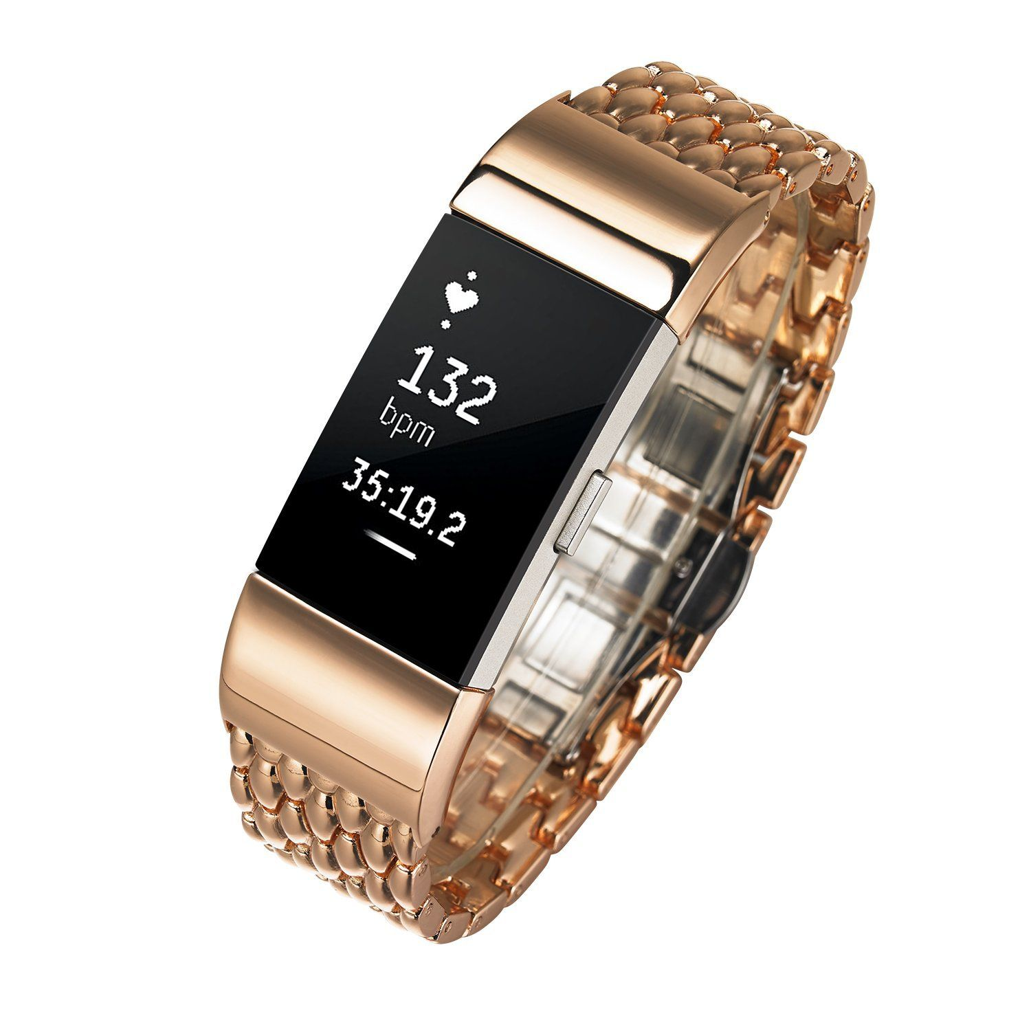 Fitbit charge bands shangpule replacement stainless steel metal