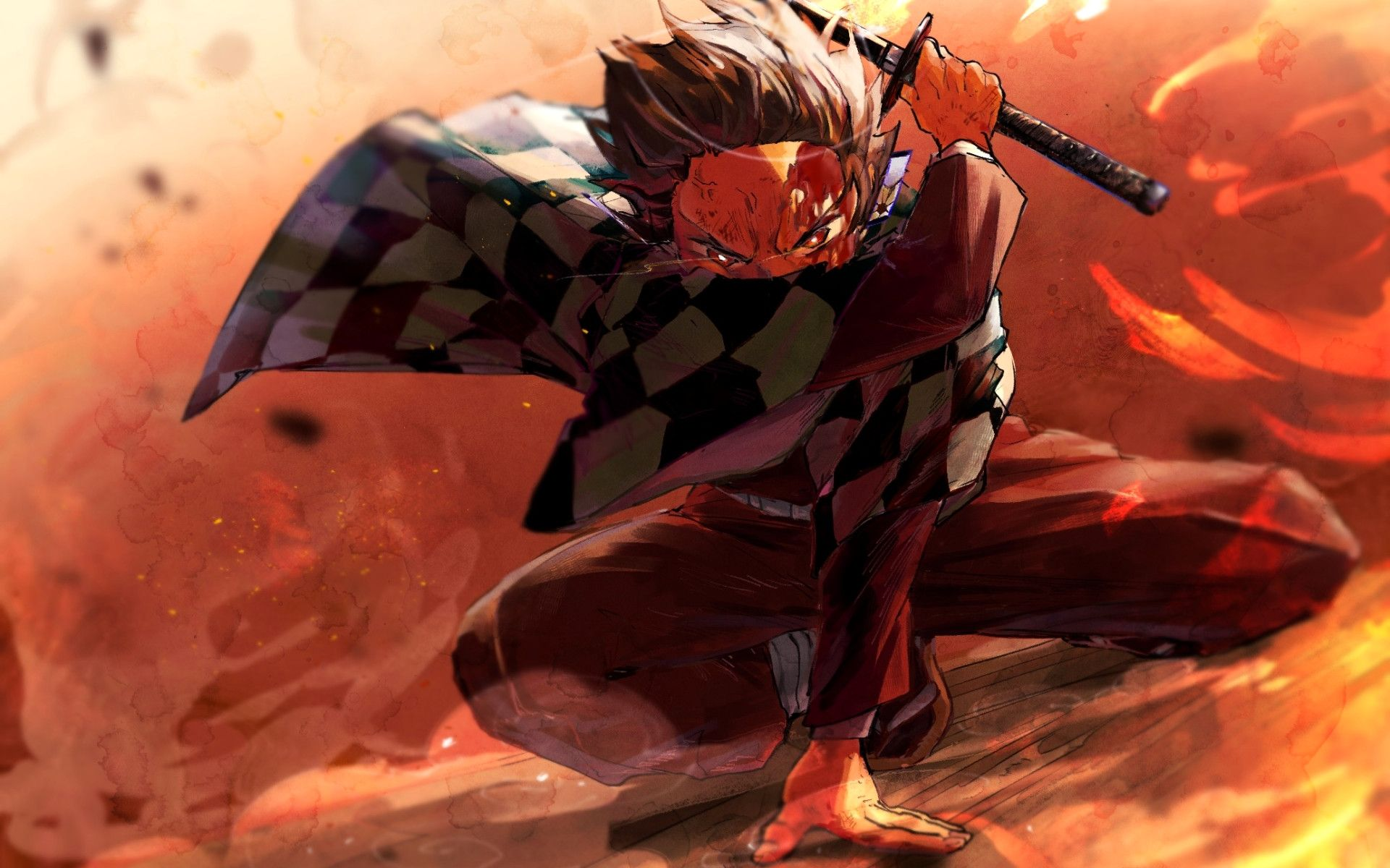 Lovely Wallpaper Of Demon Slayer Kimetsu No Yaiba Tanjirou Kamado Anime Fight Anime Wallpaper Anime Demon