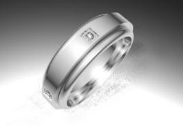 Sortija de oro blanco de 18K modelo Giratoria plana Ref.: 750BLA60GIRPLAOro blanco de 18Kmodelo Giratoria plana superficie brillo #bodas #alianzas #anillos #sortijas #diamantes #brillantes #novia | cnavarro.com