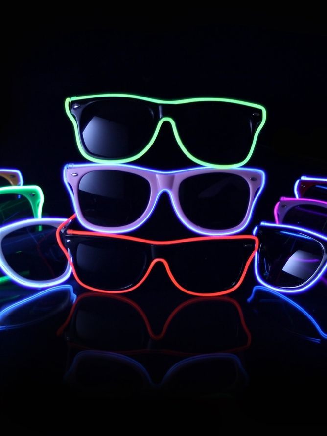 EL Wire Light Up Sunglasses : LED Wire Glasses from RaveReady ...