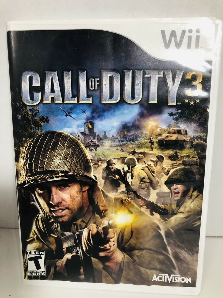 Nintendo Wii Call Of Duty 3 Disc And Cover Only Ebay Wii Call
