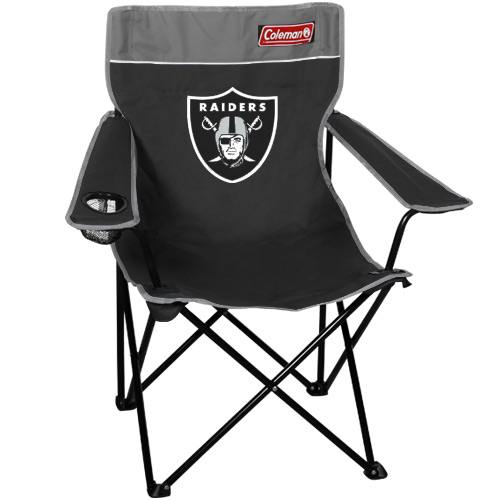 Coleman Oakland Raiders Black Silver Quad Folding Chair