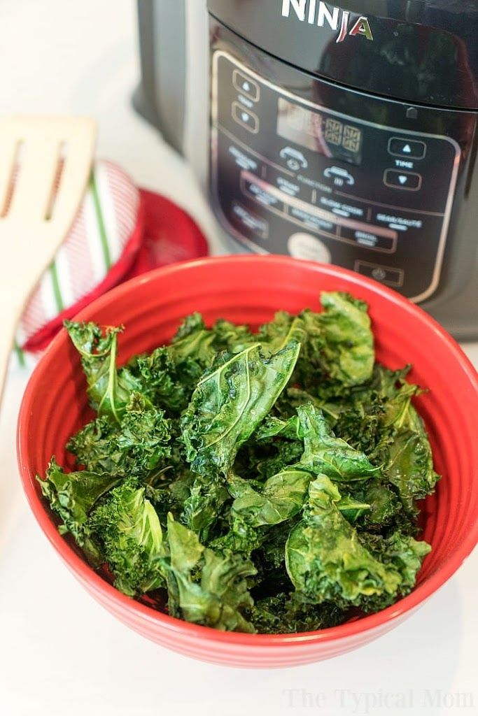 Ninja Foodi Kale Chips Recipe With Images Kale Chip Recipes Kale Chips Healthy Snacks