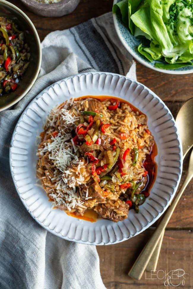 Wiener Reisfleisch mit Salsa aus Kitchen Impossible | LECKER&Co | Foodblog aus Nürnberg #babaganoushrezept