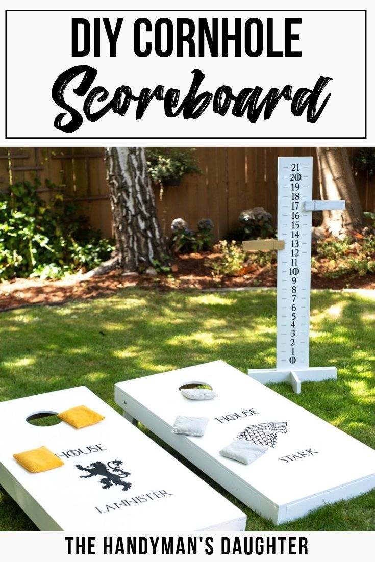 Photo of Easy DIY Cornhole Scoreboard with Free Plans