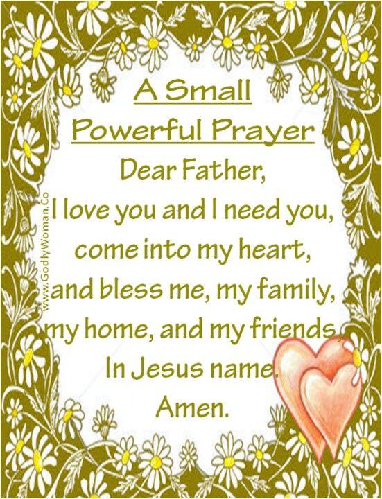 via Stephanie Jankowski) A Small Powerful Prayer Prayer - free printable religious easter cards