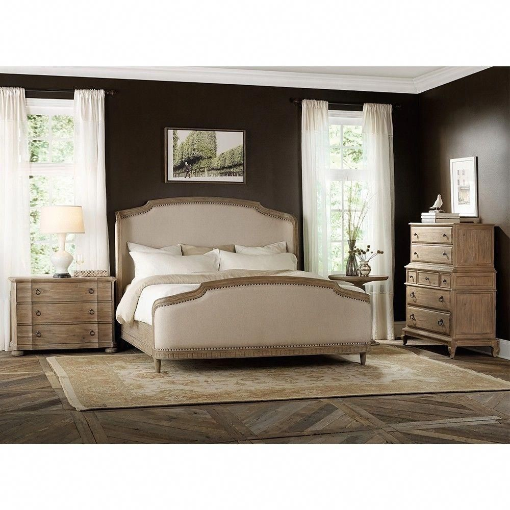 Corsica Light Wood u Upholstered Shelter Bed in Natural Humble
