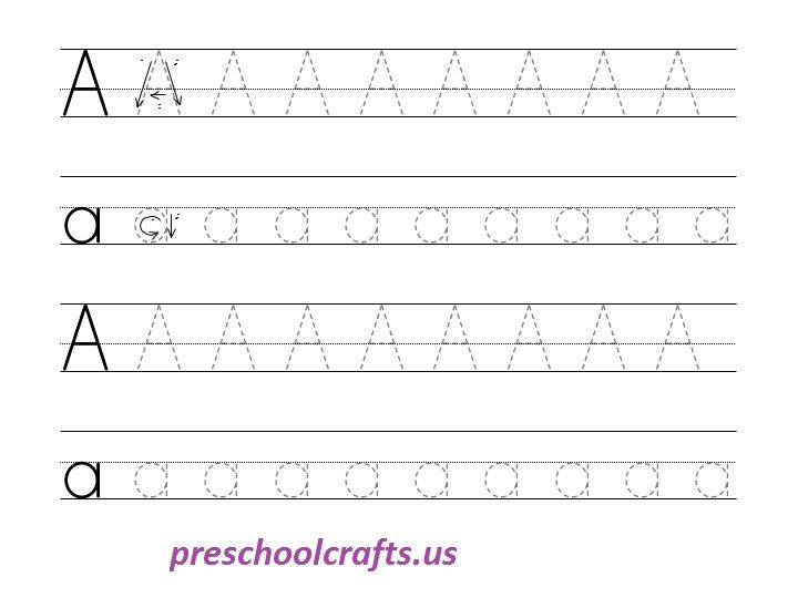 Letter A Worksheets - Preschool and Kindergarten
