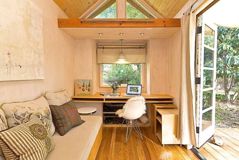Gartenhaus in ein Arbeitszimmer verwandeln mit