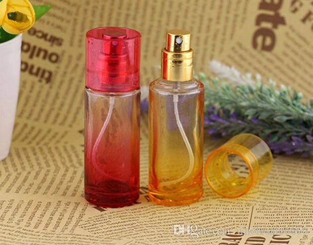 Wholesale Decorative Perfume Bottles Factory Price Colored Glass Perfume Bottle 20Ml Refillable Empty