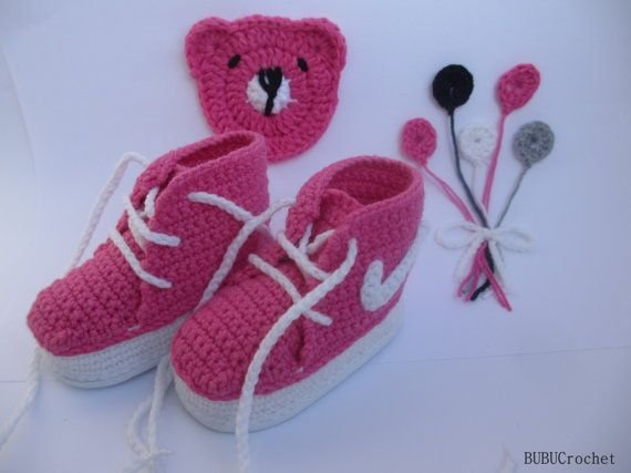 Crochet Sneakers crochet baby shoes crochet baby by BUBUCrochet