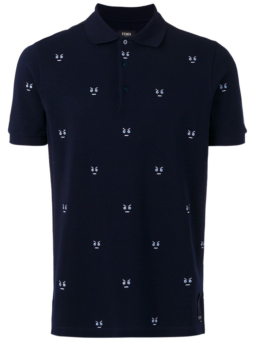 1a7939f8d62c7 Fendi embroidered detail polo shirt