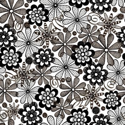 Spoonflower.com (B&W Blooms)