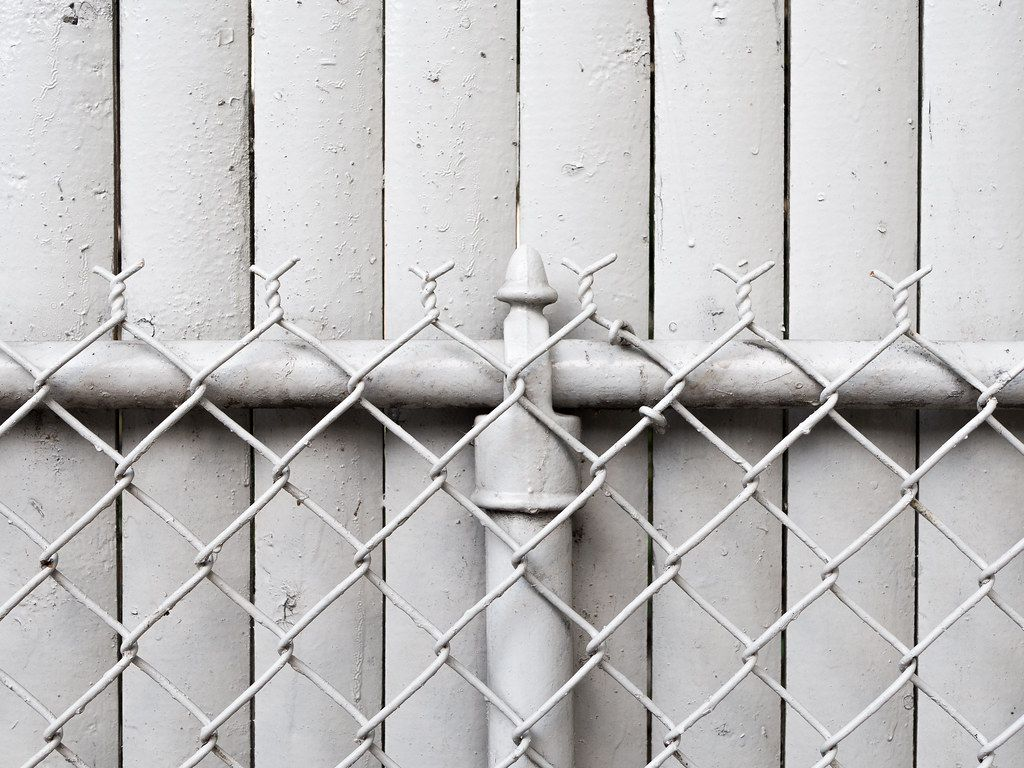 White fence on a white fence  Wallpaper by Ryan Giglio Less Is More