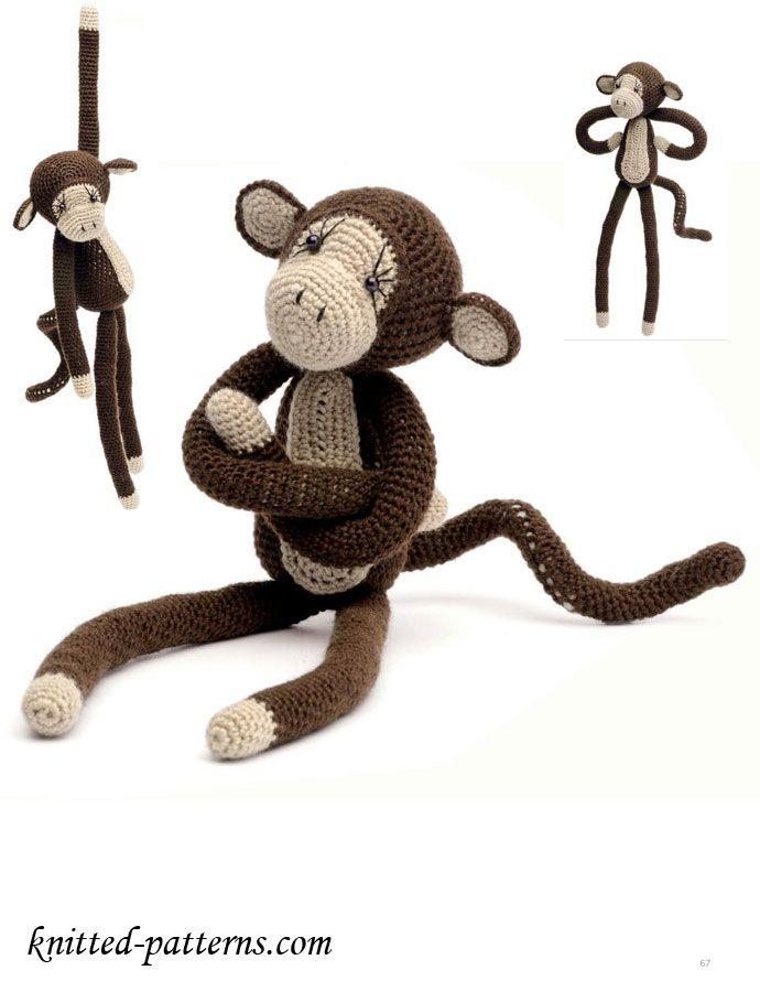 Crochet Monkey Free Pattern | kacenka | Pinterest | Häkeln, Affen ...