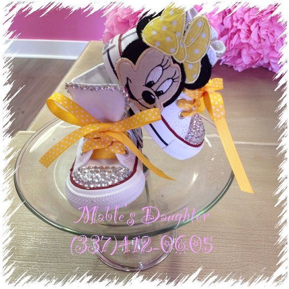 Minnie Mouse Bling Converse by MablesD on Etsy   Mini Mouse