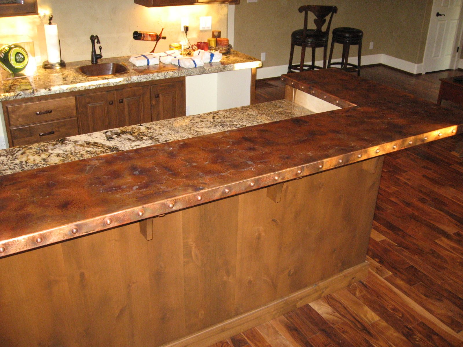 Heavy Metal Works Copper Bar Counter Top Bar Countertops Copper Bar Countertop Prices