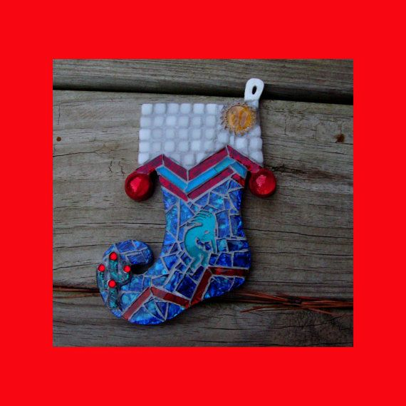 Southwestern Stocking Ornament With Kokopelli By Zzbob On Etsy