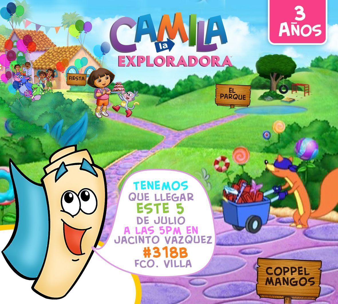 Dora la exploradora-invitacion | invitaciones | Pinterest | Dora la ...