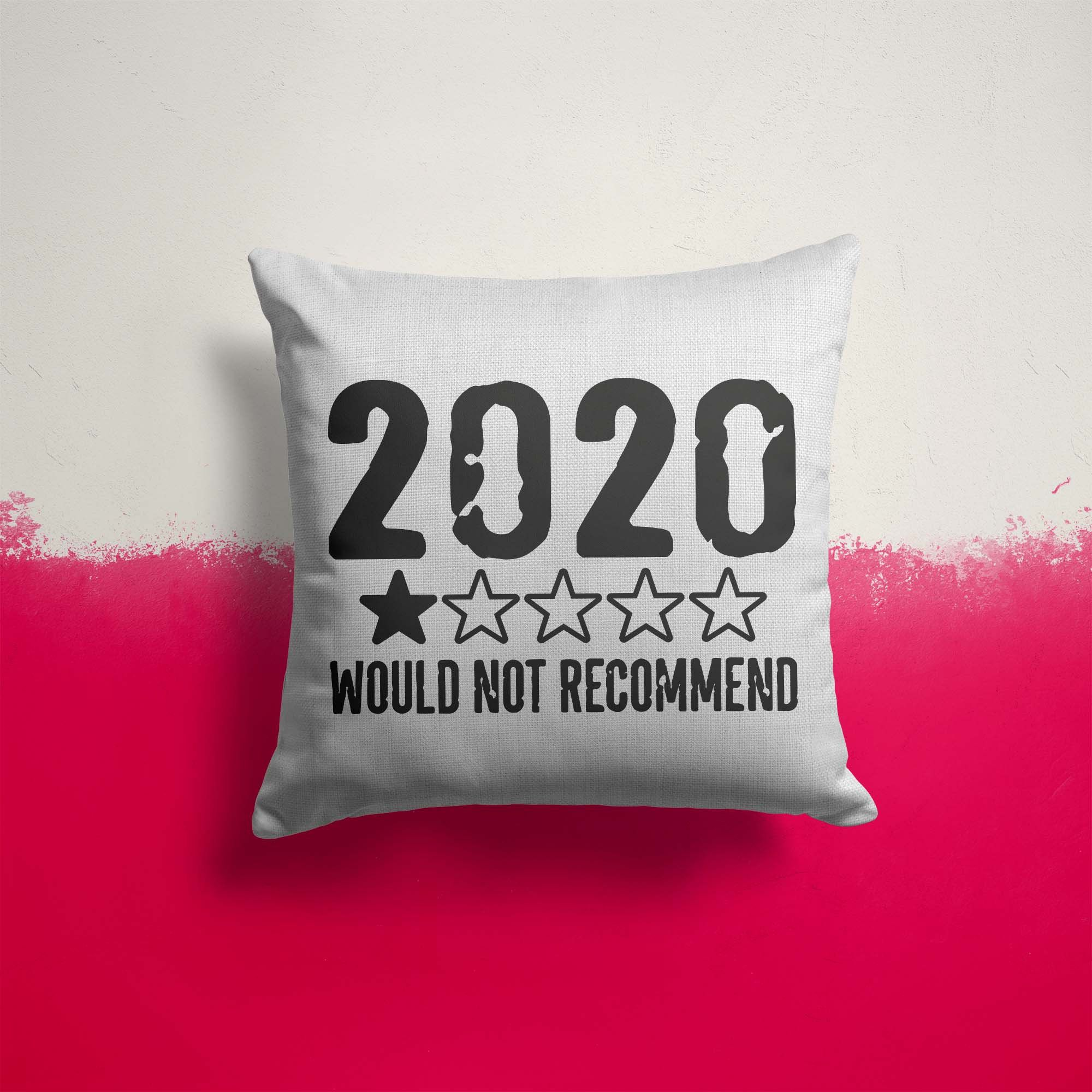 """Funny 2020 Pillow Cover 1 Star Not Recommend 2020 Fun Throw Pillow Case No Stars For Twenty Twenty Gift Idea 15.75"""""""