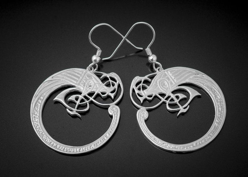 Silver Celtic Bird Earrings Tain Http Tainsilver