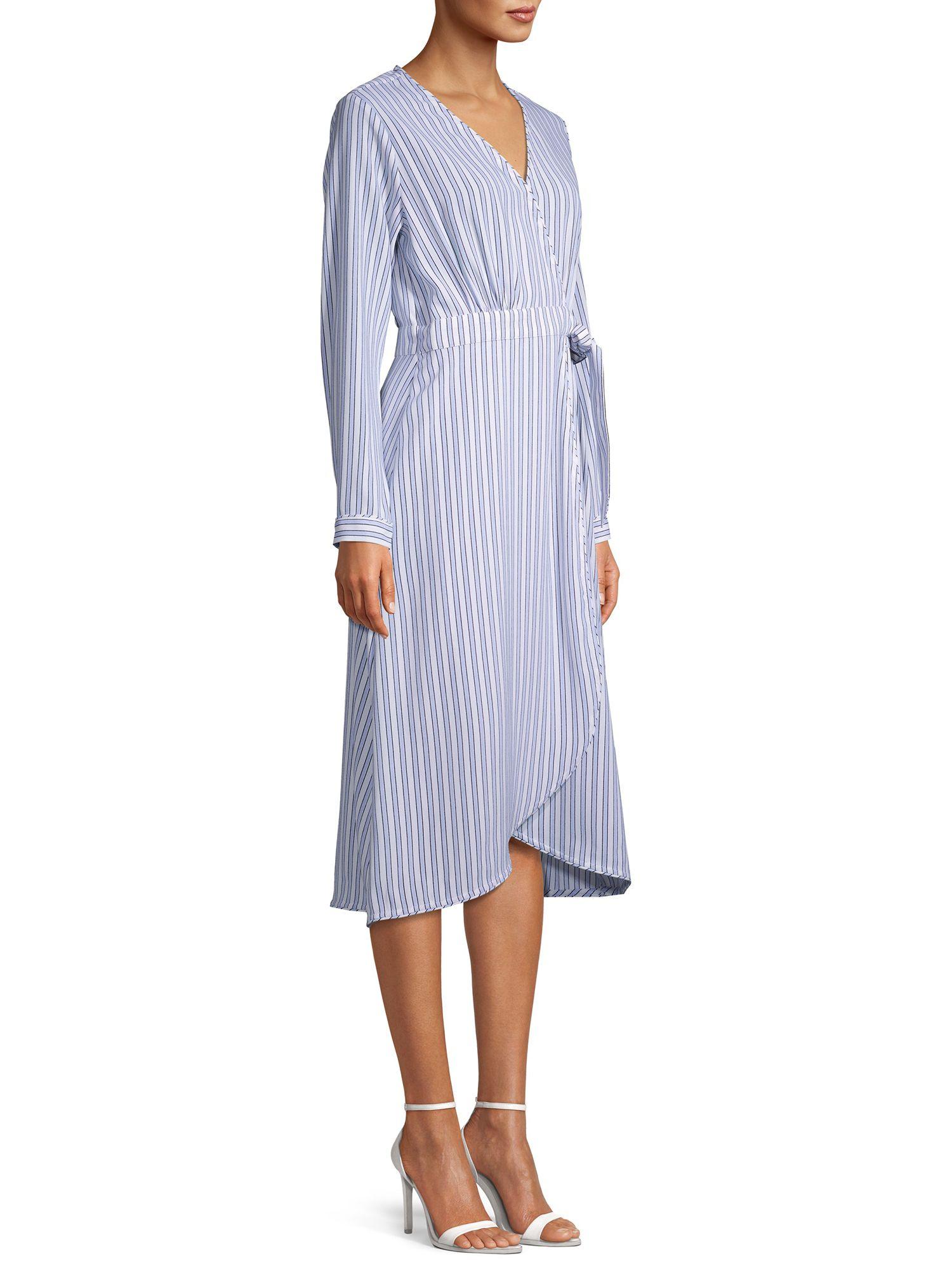 Time And Tru Time And Tru Women S Long Sleeve Faux Wrap Dress Walmart Com Wrap Dress Women Long Sleeve Faux Wrap Dress [ 2000 x 1500 Pixel ]